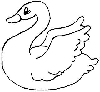 Dibujo de un cisne para colorear o pintar para niños