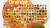 el colage del color naranja
