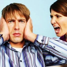 ماذا تفعلين اذا كان زوجك بطىء وكسول ومتخاذل  - امرأة توبخ تصرخ فى رجل - woman yelling at man grounding_my_husband