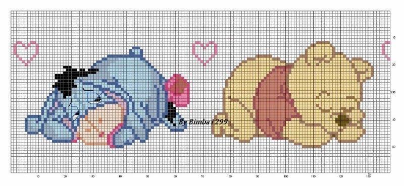Encantos em ponto cruz ursinho pooh for Winnie the pooh punto croce