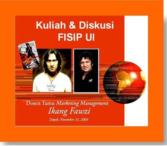 Ikang Fawzi, Dosen Tamu, FISIP-UI, 26 November 2009