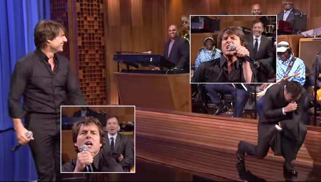 Tom Cruise in wild lip sync battle with Jimmy Fallon
