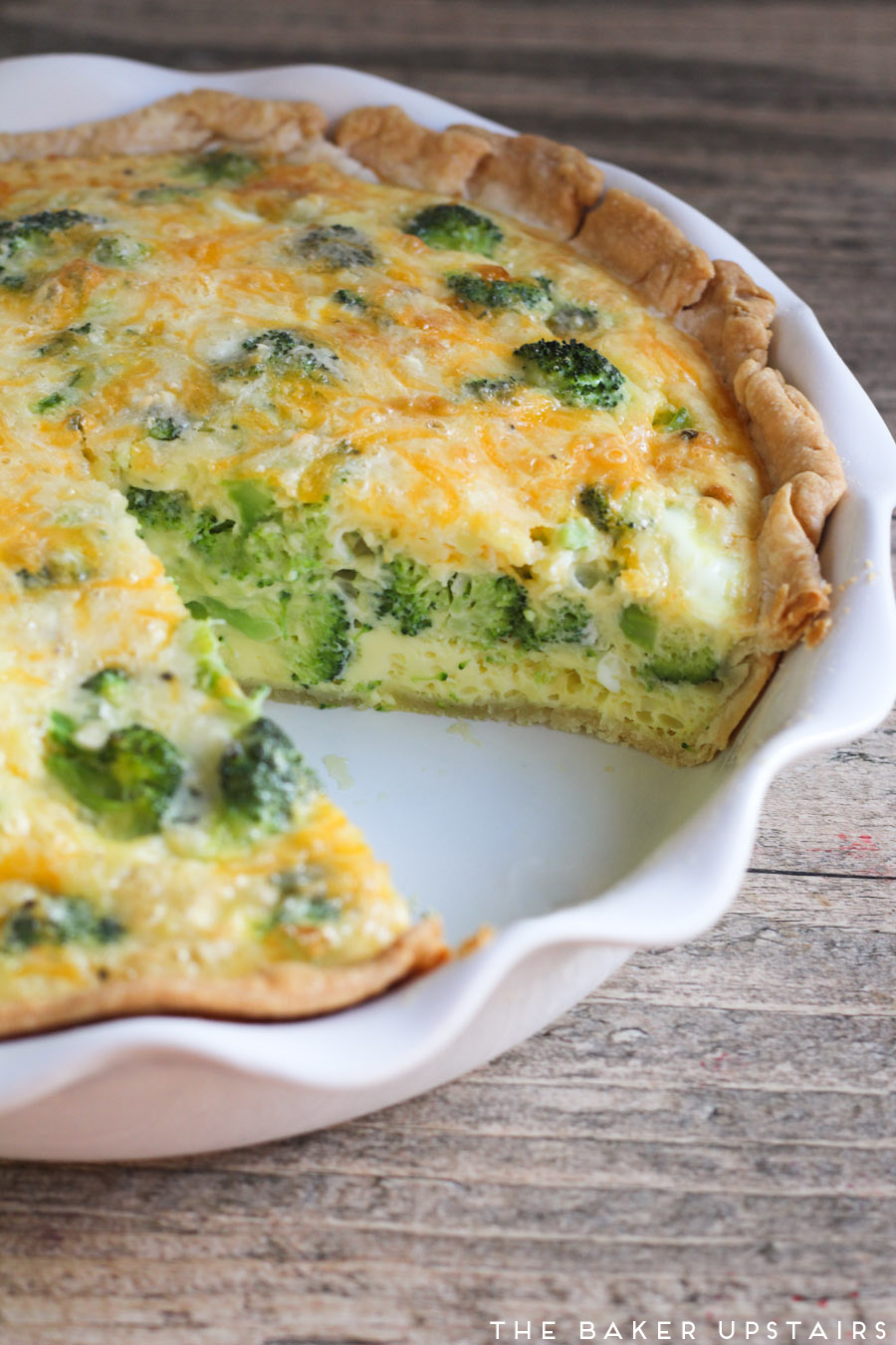 the baker upstairs: broccoli cheese quiche