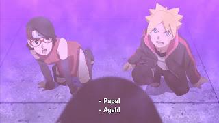 Screenshot Boruto And Sarada Affraid Download Boruto Naruto The Movie (2015) BluRay 360p Subtitle Bahasa Indonesia - stitchingbelle.com