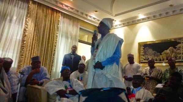 Buhari, Osinbajo, Tinubu visit IBB at his home in Minna