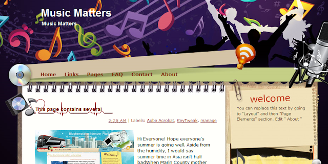 Music Blogger Template