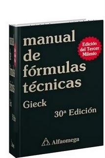 Manual de Fórmulas Técnicas por kurt Gieck