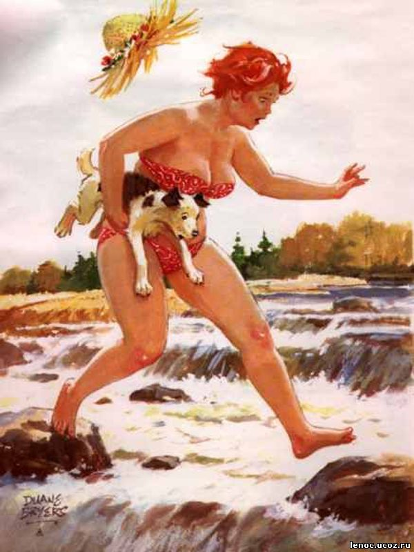 Американский художник Дуэйн Брайерс (Duane Bryers), хильда, hilda, тостушка, пышка, полные женщины, позитив