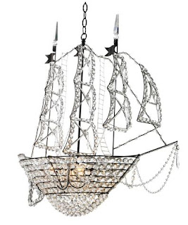 crystal ship chandelier in custom colors