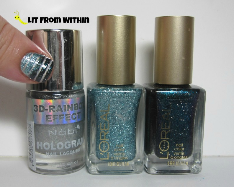 Bottle shot:  Nabi Silver, L'Oreal Pop The Bubbles, and Hidden Gems.