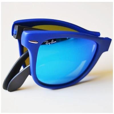ray ban azules plegables