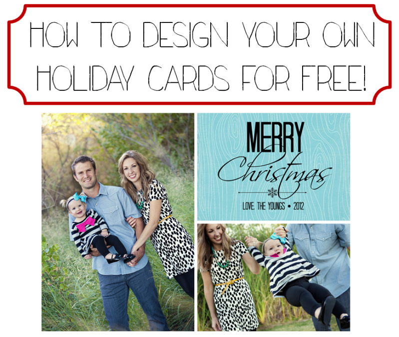Tart house how to design your own holiday cards