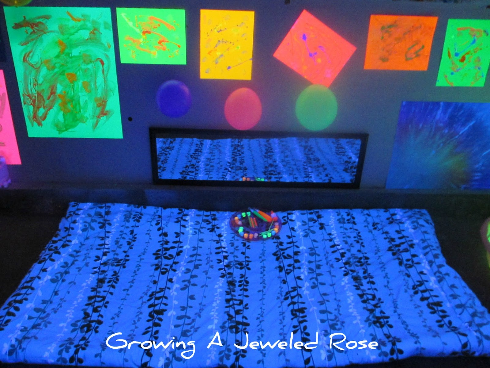 Black Light Themed Party for Kids | Growing A Jeweled Rose