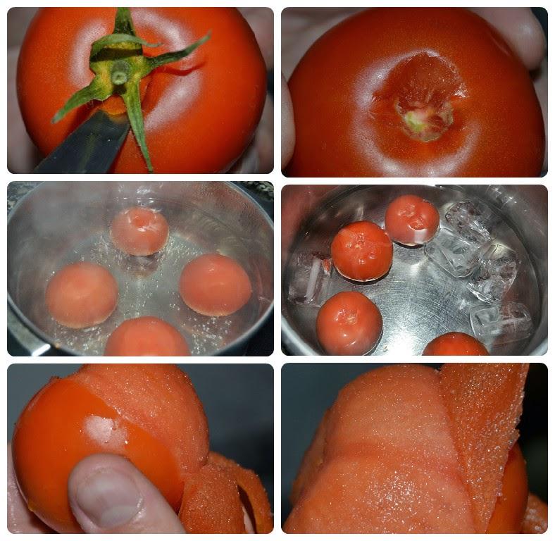 paso a paso para escaldar tomates, quitar piel tomates