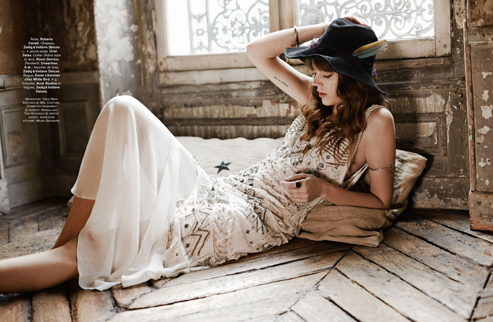 Rock & Folk: Freja Beha Erichsen By Fred Meylan For Glamour France August 2014