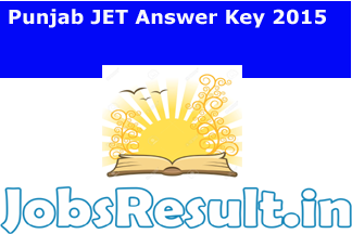 Punjab JET Answer Key 2015