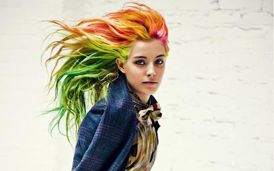 chloe norgaard, editorial, fashion editorial, colorful locks,