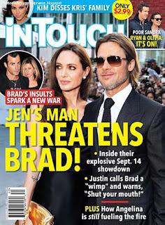 celebrity gossip Justin Theroux Threatens Brad Pitt