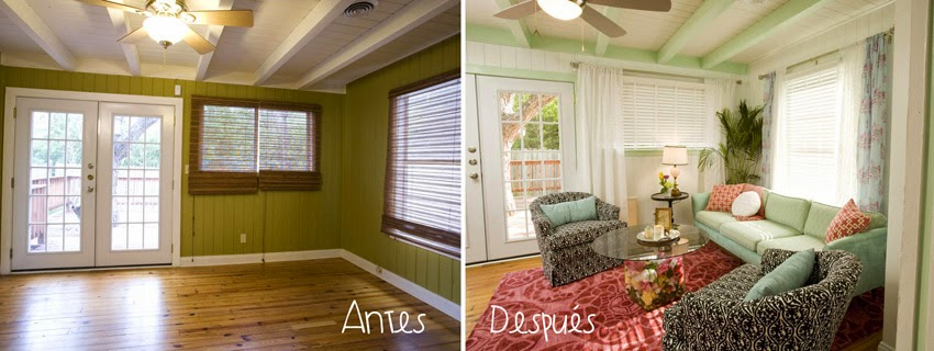 Decorar salones: antes y después5