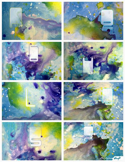 nebulosa-celeste-pintura-acrílicos-collage