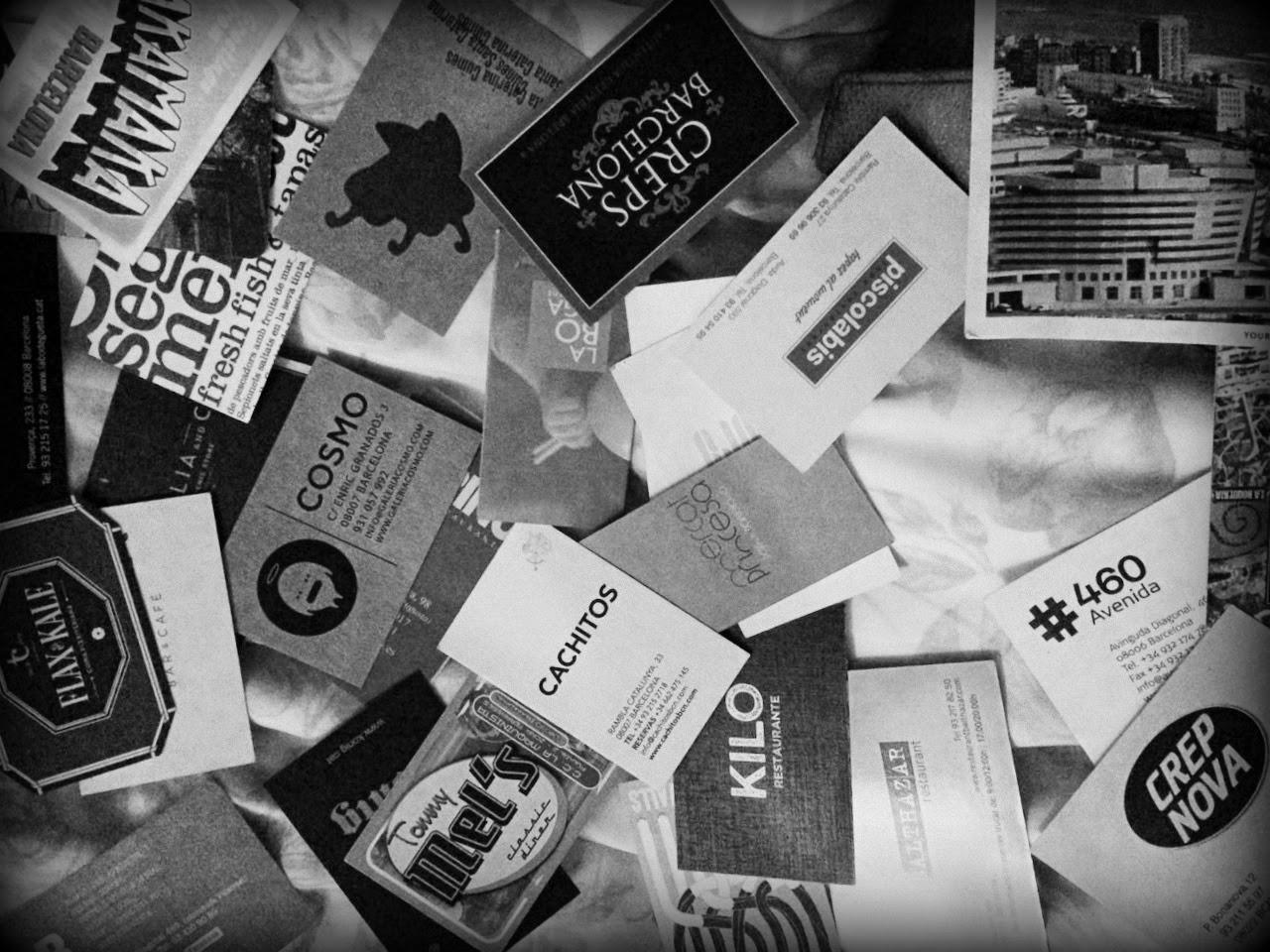 tarjetas de visita, restaurantes, barcelona, magica barcelona, ocio, comida