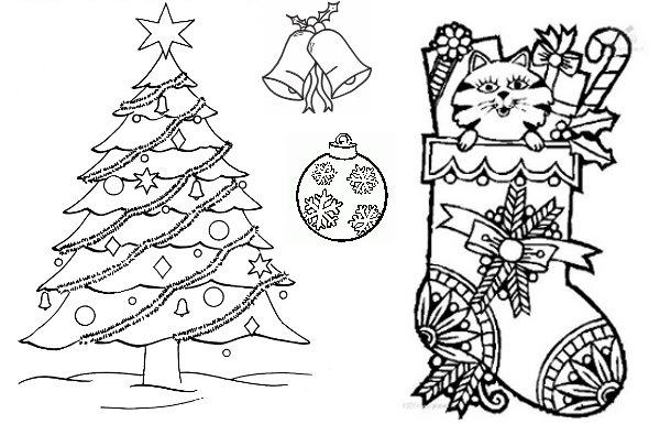 La Navidad - Dibujos para Colorear  Ciclo Escolar