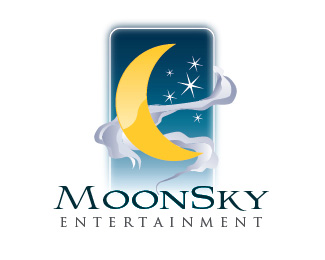 MoonSky Entertainment Logo Design