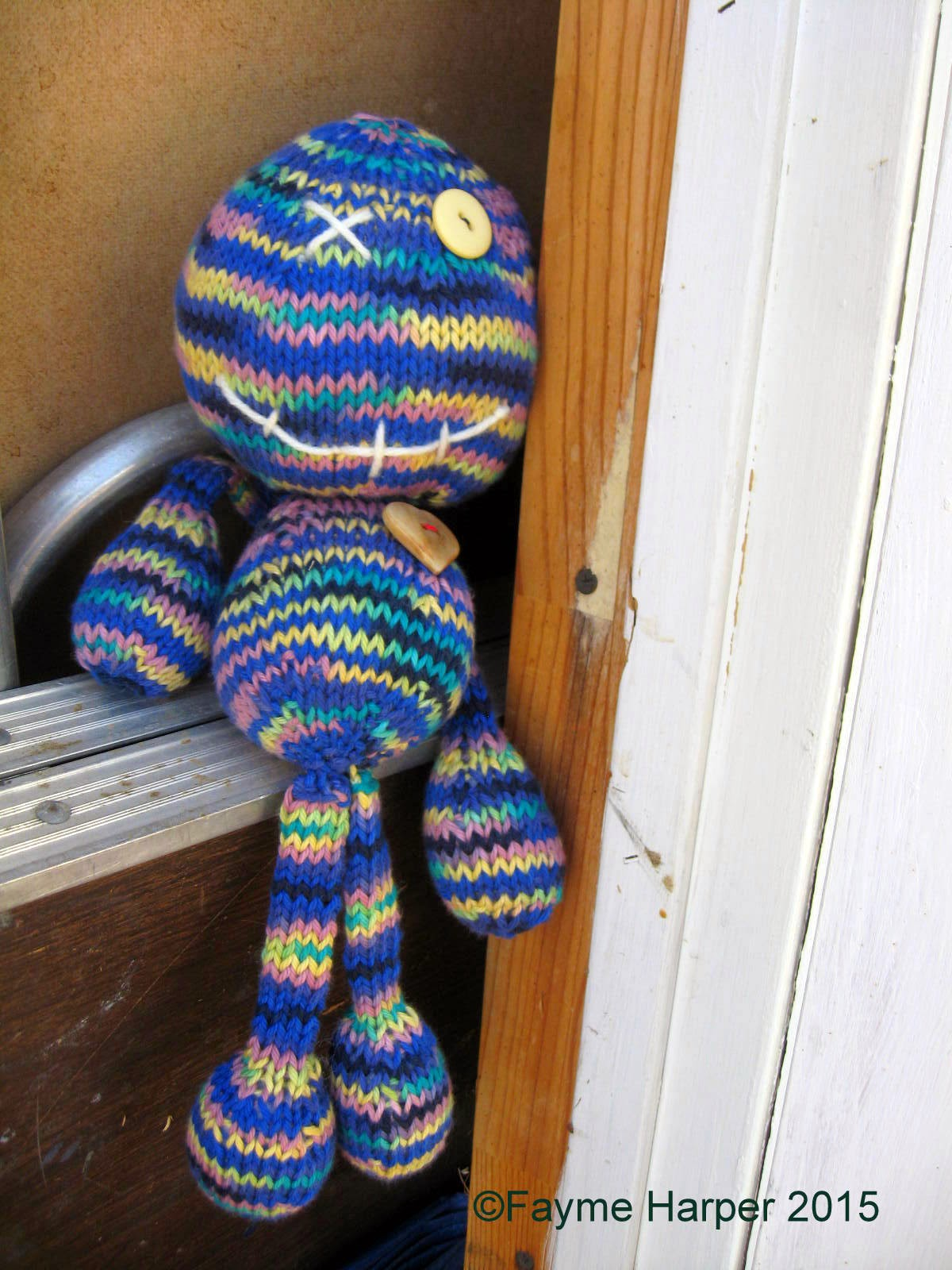 Knitting Pattern Voodoo Doll : Create-A-Craft-A-Day: Voodoo Doll Made With Cotton Yarn