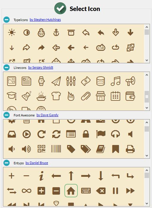 Iconion select Icon