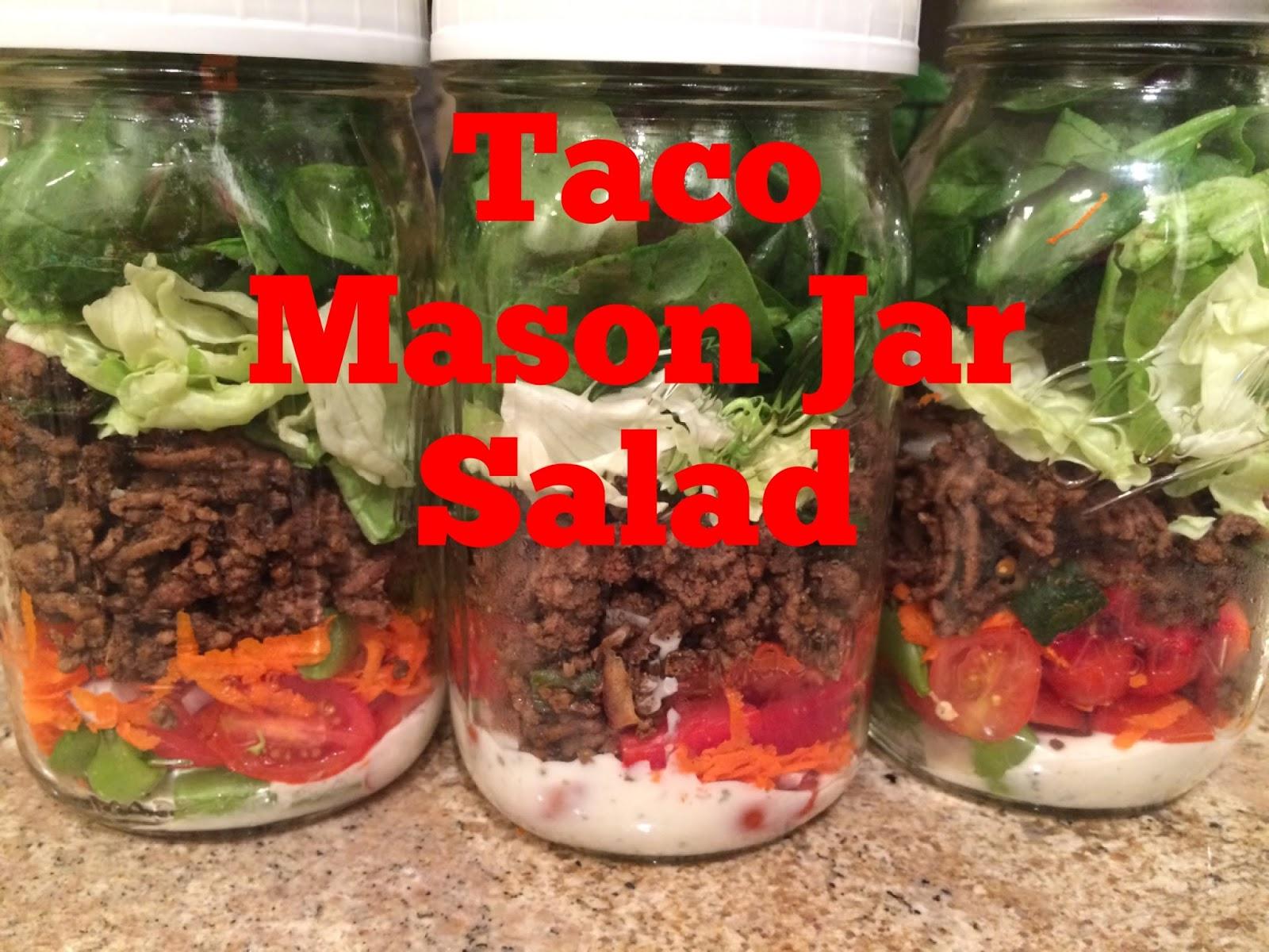 fresh mama fitness and health mason jar taco salad 21 day fix