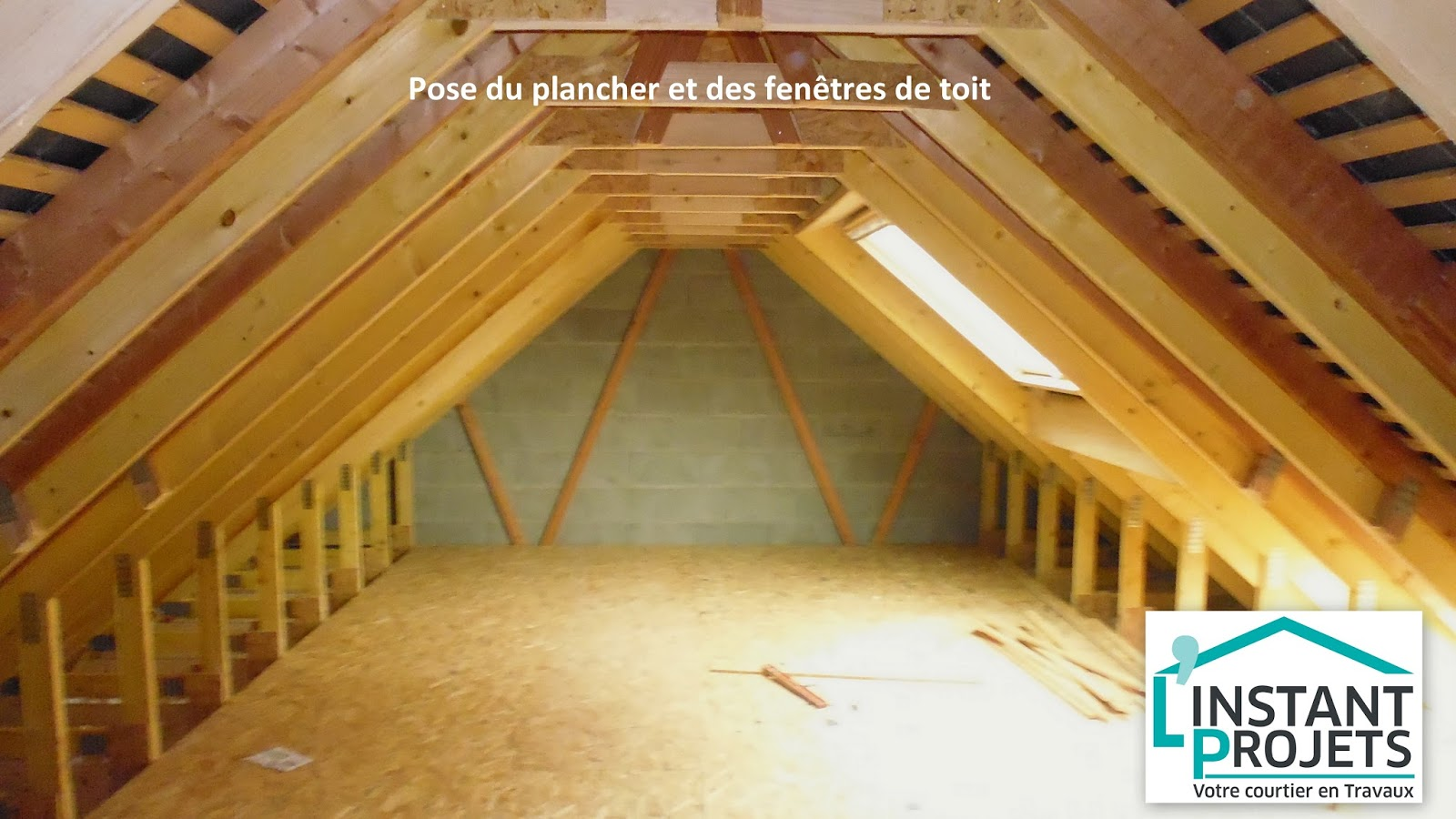 Cr ation de combles am nageables saint joachim l 39 instant projets for Plancher combles amenageables