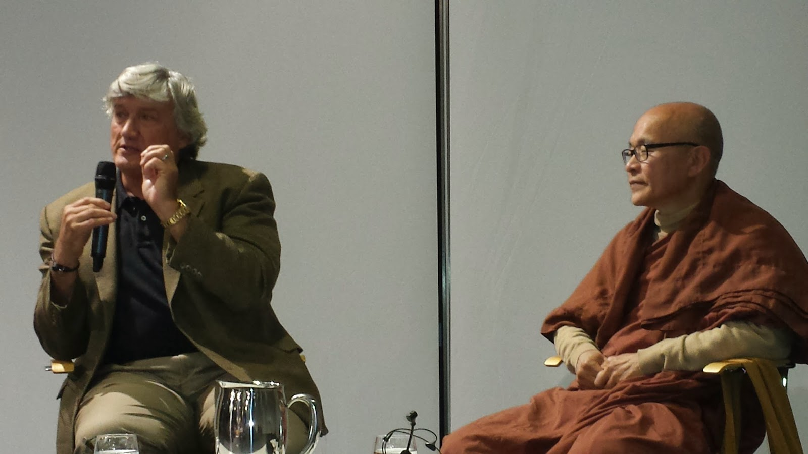 Professor James Doty of Stanford with Venerable Bhante Mahinda