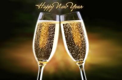 Sretna Nova godina uz šampanjac Božićne slike čestitke