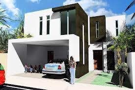 casa con fachada contemporanea elegante con cantera oscura