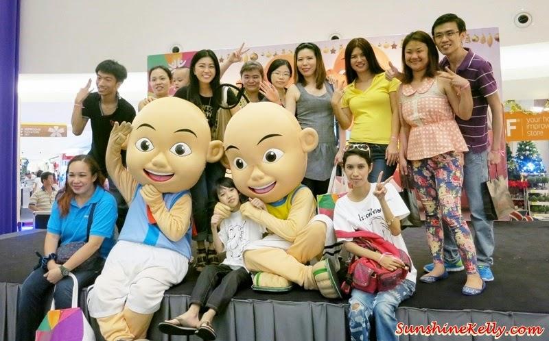 Upin & Ipin, mascot, Upin & Ipin mascots, Bloggers' Day Out @ Klang Parade, Klang Parade, Shopping Mall