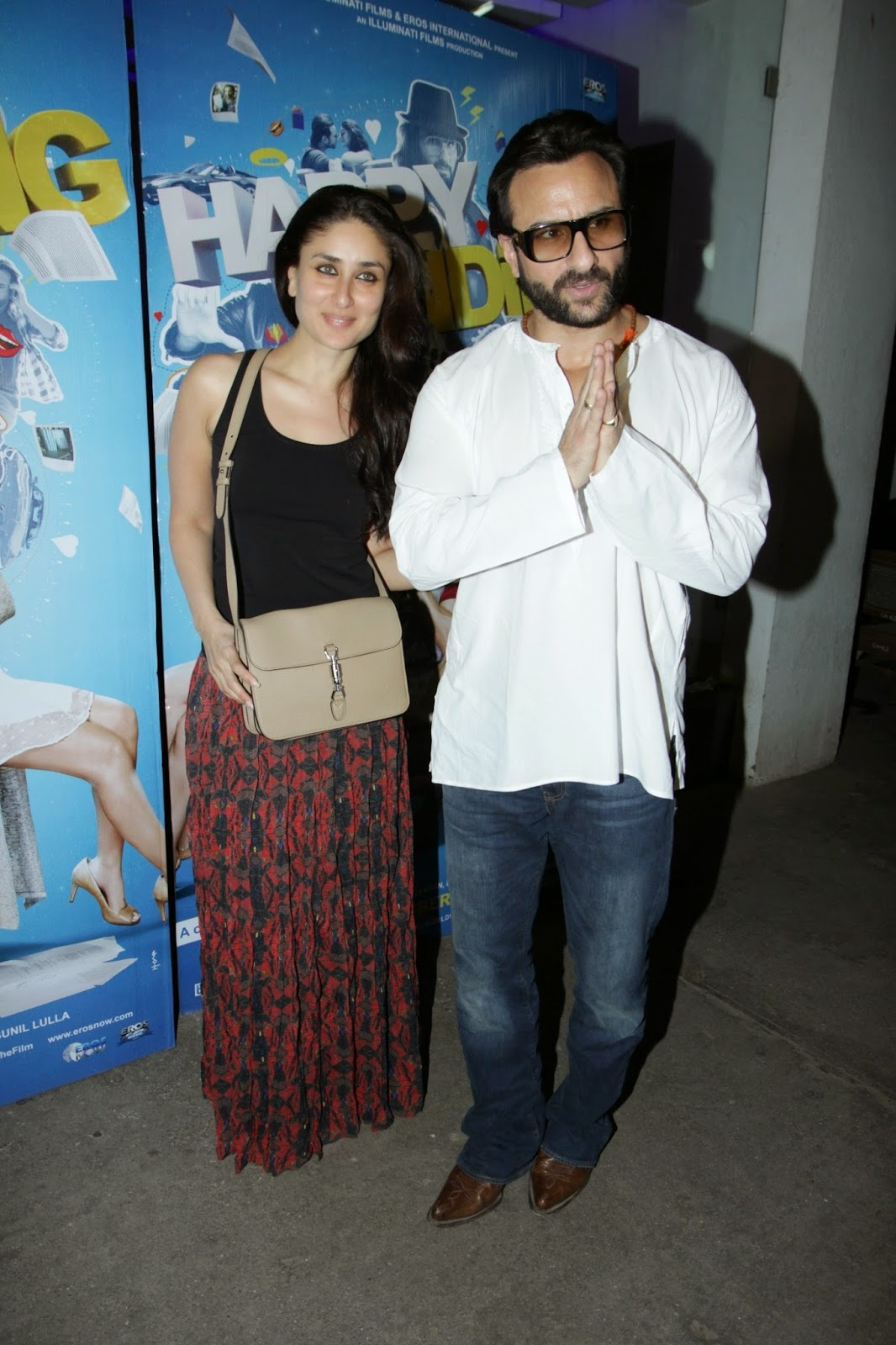 Saif Ali Khan's Son and others at 'Happy Ending' Screening