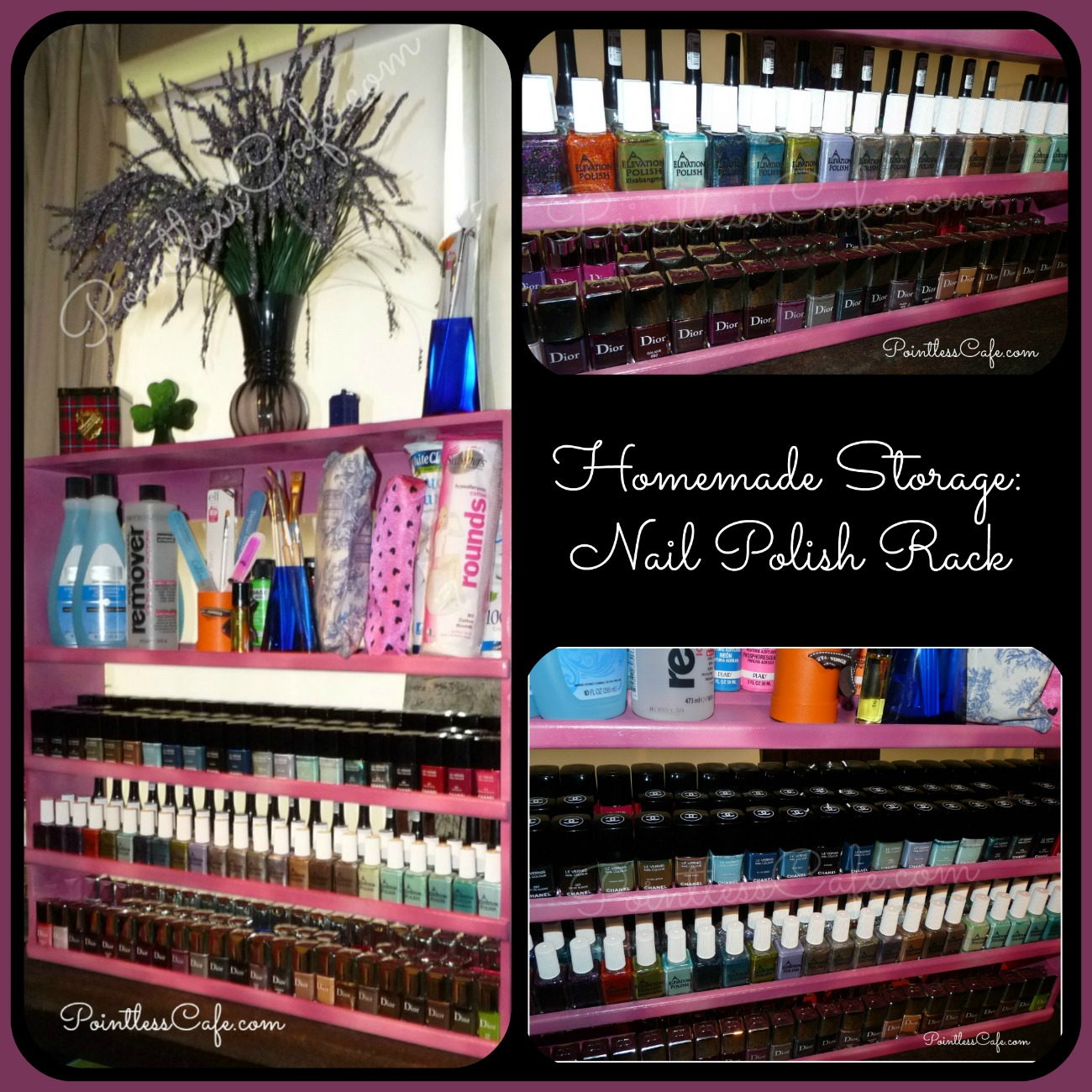 DIY Nail Polish Storage Rack | Pointless Cafe