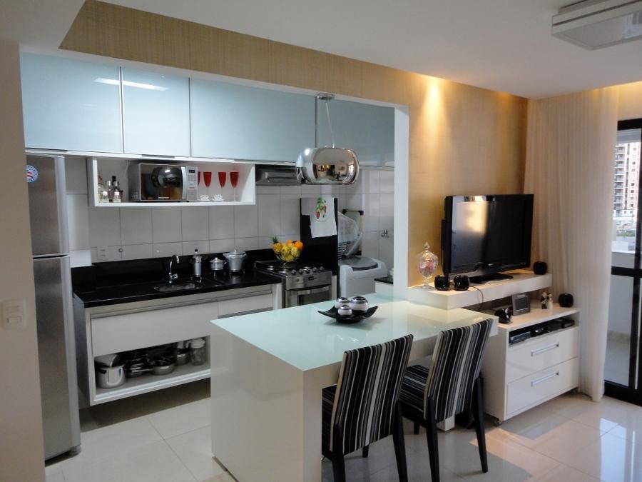 Tipos de cozinha americana +15 fotos e medidas para bancadas!  Decor Alterna # Cozinha Com Ilha E Sala Integrada