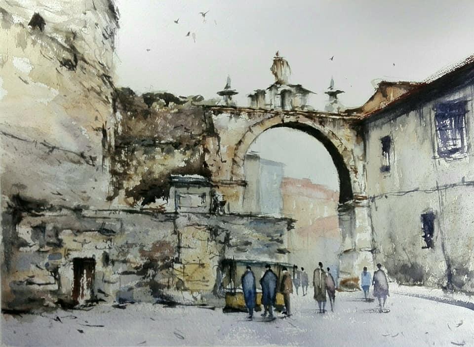 . León.Arco de la Cárcel.