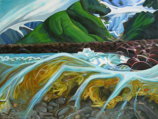 Under the Shore by Kathy Hodge, Chugach NF aritst in Residence