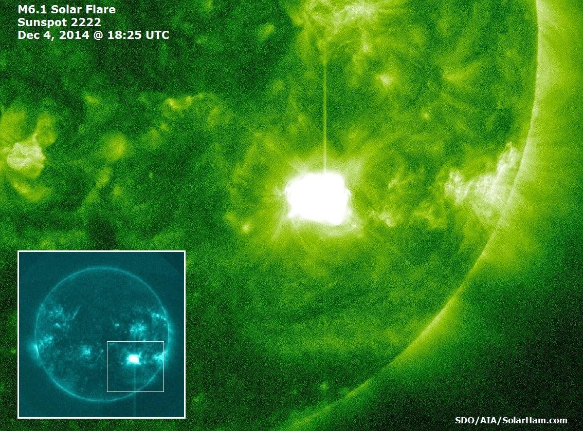 LLAMARADA SOLAR CLASE M6.1, EL 4 DE DICIEMBRE 2014