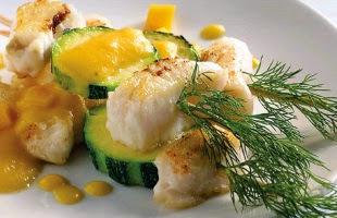 Receta Brocheta de Pescado Salsa de Fruta