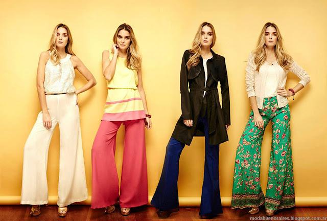 Moda 2016. Pantalones palazzos y oxford primavera verano 2016