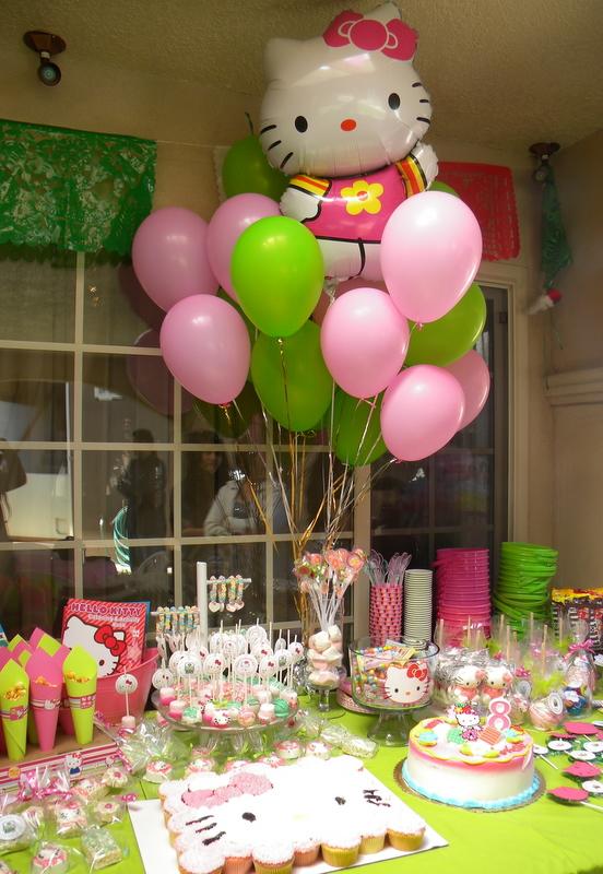 Cómo Decorar un Fiesta de Hello Kitty Party Ideas | Arcos con ...