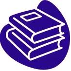 Dibujo de dos libros superpuestos utilizado en éste blog para representar el Reglamento