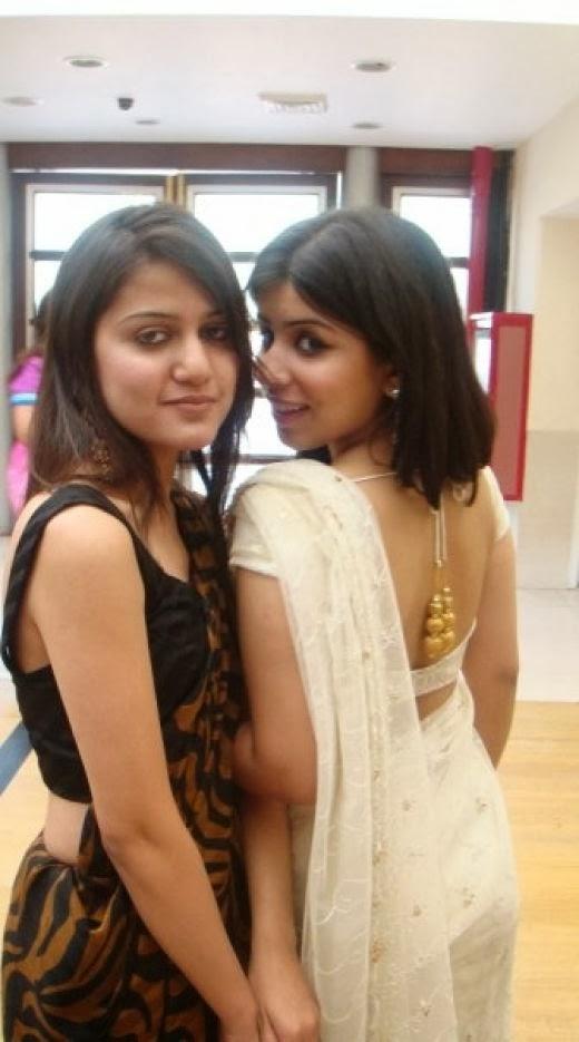 blouse and transparent saree sexy lady in black sleeveless saree worn