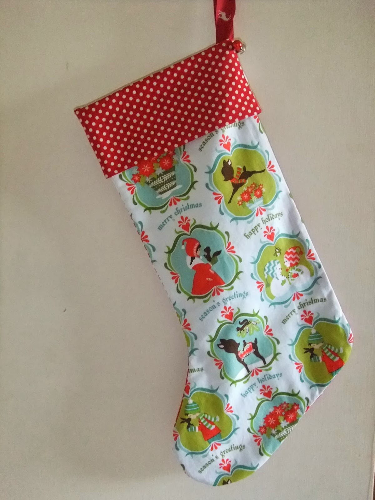 you can add little bells to the back of the stocking cuff if you like or how about a little pocket for a note to santa the possibilities are endless - How To Make A Christmas Stocking