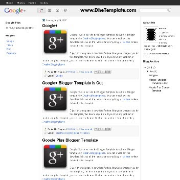 Google Plus Blogger Template. image slider blogger template. 3 column footer template blog