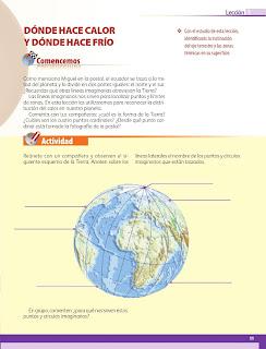 Apoyo Primaria Geografía 5to grado Bloque I Lección 1 Dónde hace calor y dónde hace frío