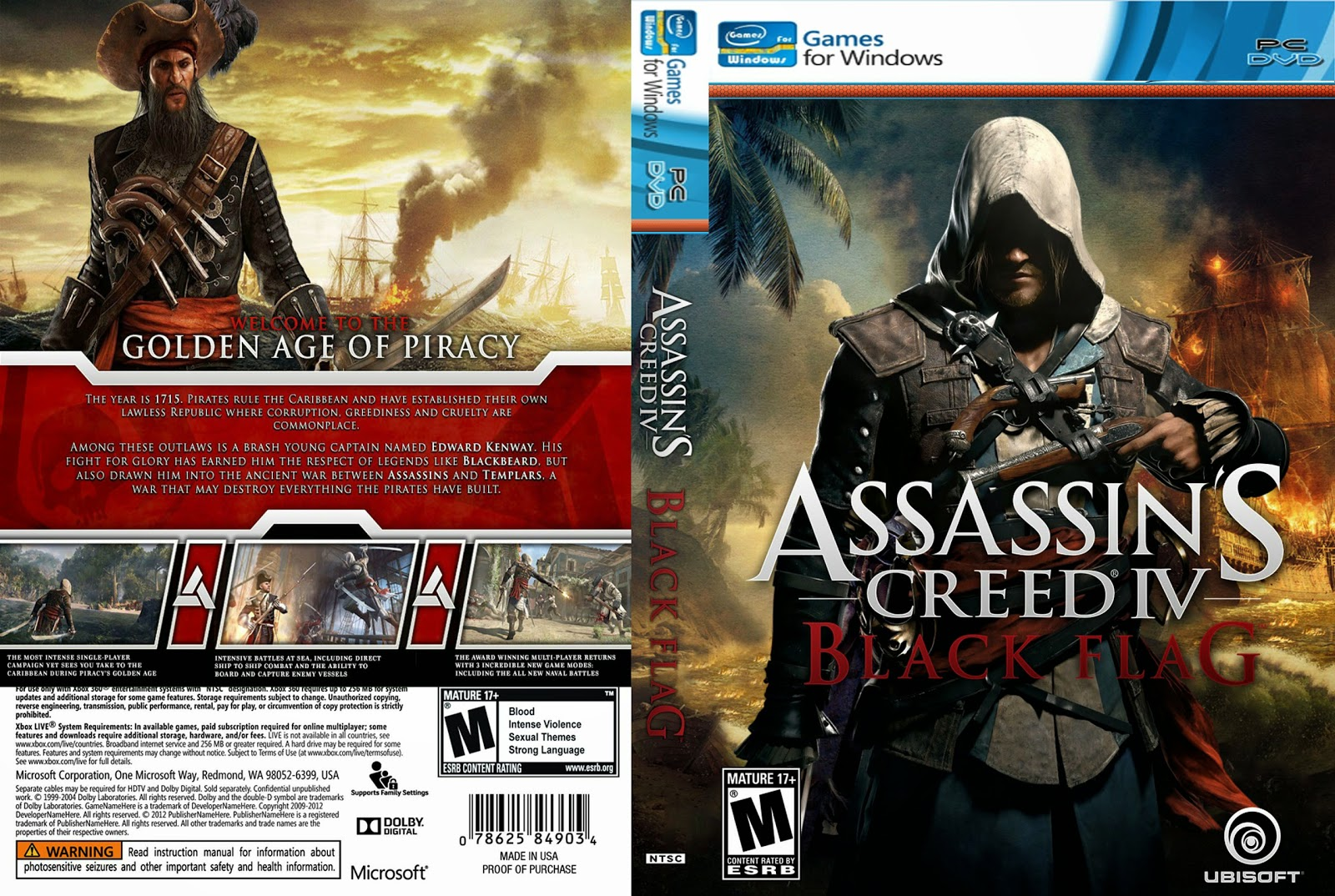 Capa Assasssin Creed IV Black Flag PC